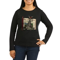 Daisy Donkey Women's Long Sleeve Dark T-Shirt