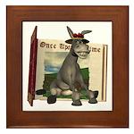 Daisy Donkey Framed Tile