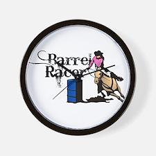 Cute Barrel racing Wall Clock