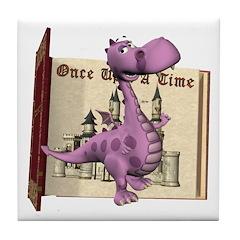Dusty Dragon Tile Coaster