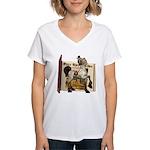 The Three Bears Women's V-Neck T-Shirt