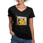 The Three Bears Women's V-Neck Dark T-Shirt