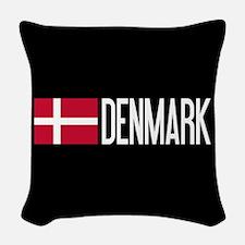 Denmark: Danish Flag & Denmark Woven Throw Pillow