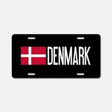 Denmark: Danish Flag & Denm Aluminum License Plate