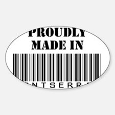 Made in Montserrat Oval Decal