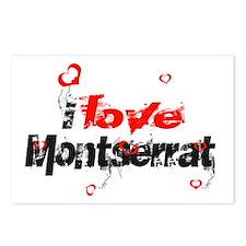 I love Montserrat Postcards (Package of 8)