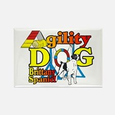 Brittany Agility Rectangle Magnet (100 pack)