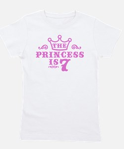 Cute 7th birthday Girl's Tee
