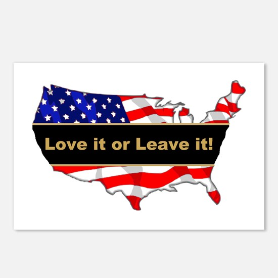 Love it or leave it Postcards (Package of 8)