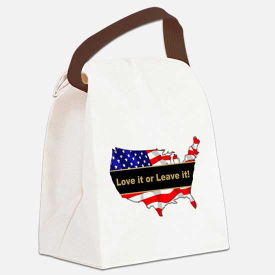 Love it or leave it Canvas Lunch Bag