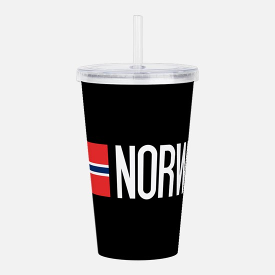 Norway: Norwegian Flag Acrylic Double-wall Tumbler