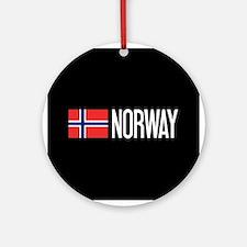 Norway: Norwegian Flag & Norway Round Ornament