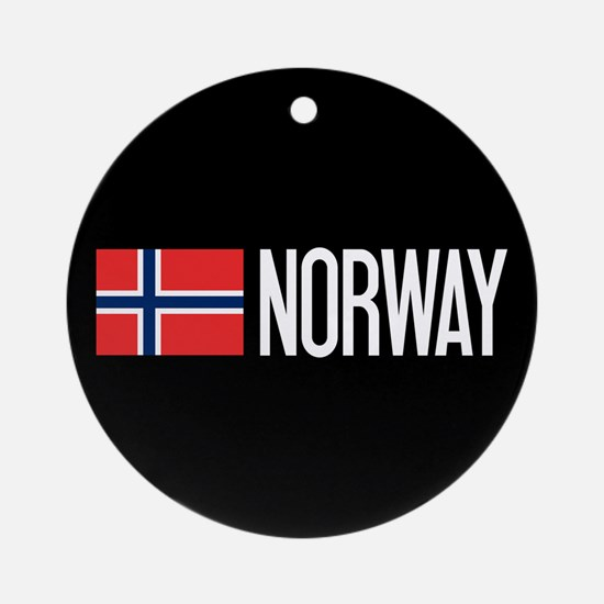 Norway: Norwegian Flag & Norway Round Ornament