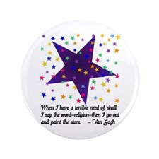 """Starry Night 3.5"""" Button (100 pack)"""