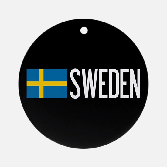 Sweden: Swedish Flag & Sweden Round Ornament