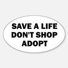 Save A Life - Oval Decal
