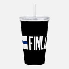 Finland: Finnish Flag Acrylic Double-wall Tumbler