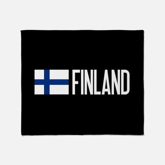 Finland: Finnish Flag & Finland Throw Blanket