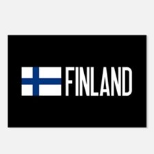Finland: Finnish Flag & F Postcards (Package of 8)
