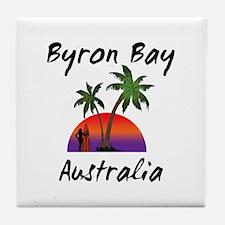 Byron Bay Australia Tile Coaster