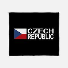 Czech Republic: Czech Flag & Czech R Throw Blanket