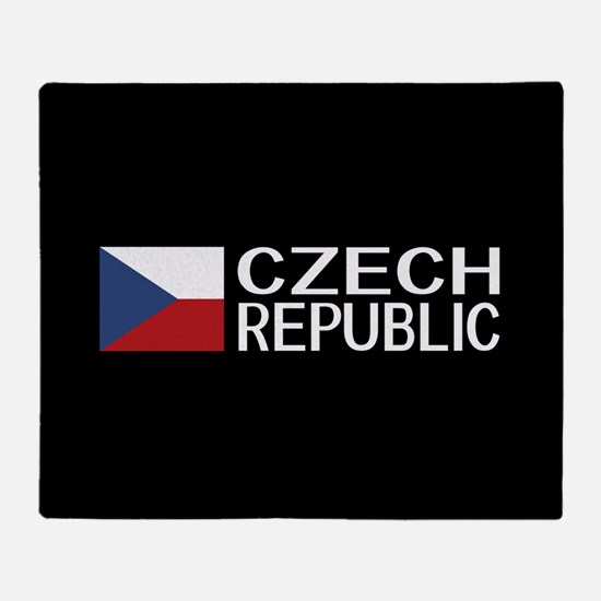 Czech Republic: Czech Flag & Czech R Throw Blanket