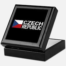Czech Republic: Czech Flag & Czech Re Keepsake Box