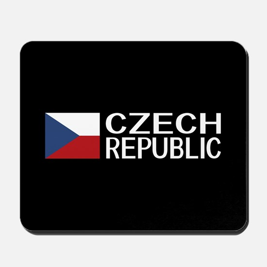Czech Republic: Czech Flag & Czech Repub Mousepad