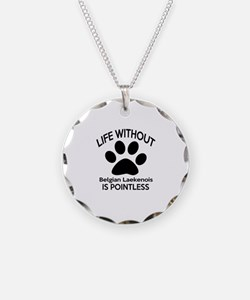 Life Without Bedlington Terr Necklace Circle Charm