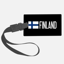Finland: Finnish Flag & Finland Luggage Tag