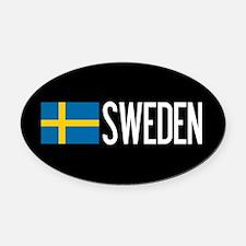 Sweden: Swedish Flag & Sweden Oval Car Magnet