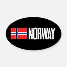 Norway: Norwegian Flag & Norway Oval Car Magnet