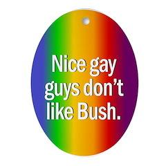Christmas Oval Ornament. Nice gay guys...