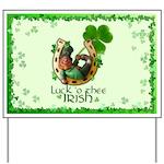 Irish Luck Clover Yard Sign