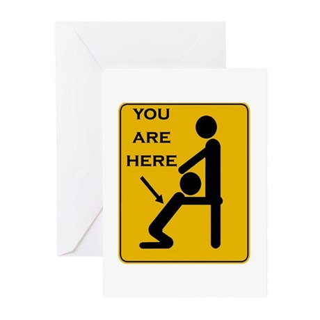 You Are Here Greeting Cards (Pk of 10)