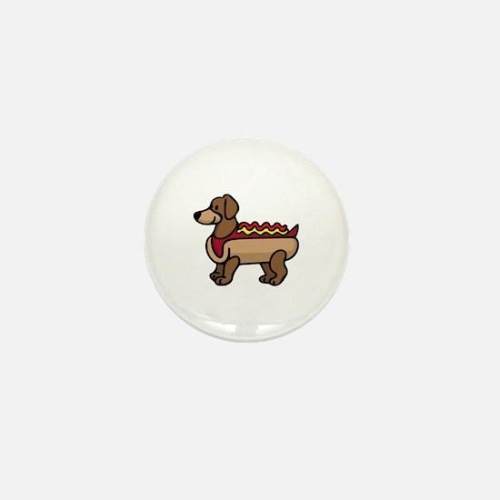 Hot Dog Mini Button