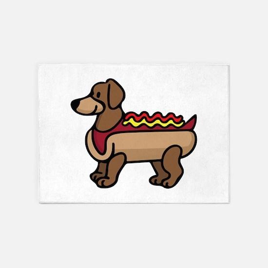 Hot Dog 5'x7'Area Rug