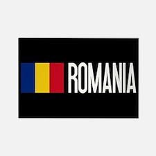 Romania: Romanian Flag & Romania Rectangle Magnet