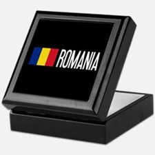 Romania: Romanian Flag & Romania Keepsake Box