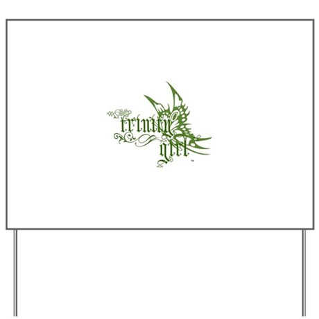 Trinity Girl Butterfly Yard Sign