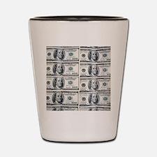 $100 dollar bills money Shot Glass