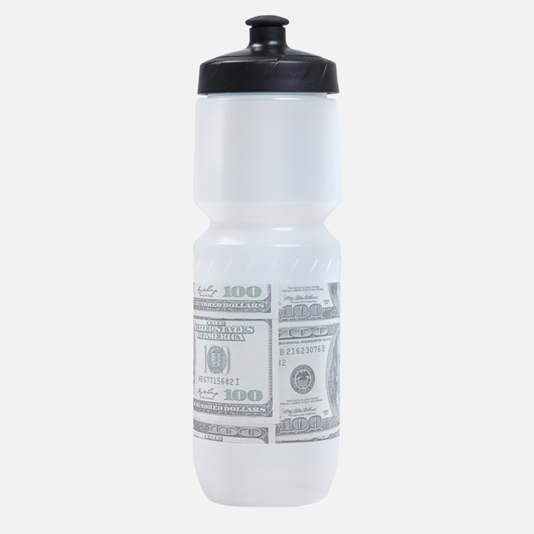 $100 dollar bills money Sports Bottle
