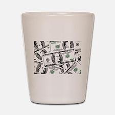 $100 dollars Shot Glass