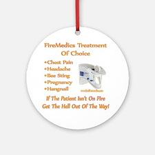 FireMedics Patient Care Ornament (Round)