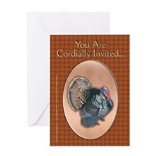 Cordial Thanksgiving Invitation Greeting Card
