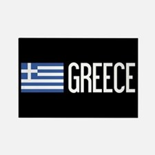 Greece: Greek Flag & Greece Rectangle Magnet