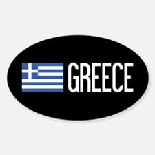 Greece: Greek Flag & Greece Sticker (Oval)