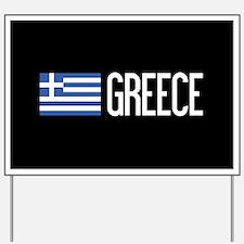 Greece: Greek Flag & Greece Yard Sign