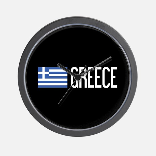 Greece: Greek Flag & Greece Wall Clock