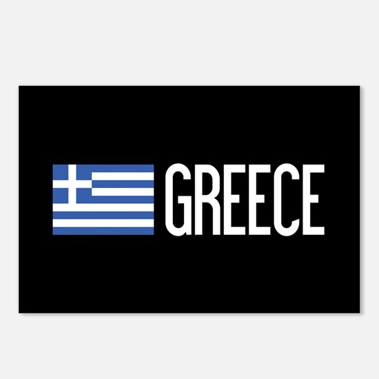 Greece: Greek Flag & Gree Postcards (Package of 8)